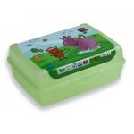 Box desiatový HROCH-zelený 1L, 17x13x6,5cm, BPAfree  plast SKLADOVANIE POTRAVÍN A DÓZY