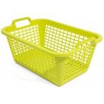 Kôš na čisté prádlo ZELENÁ, 60L/70x50x30cm, plast UPRATOVANIE, ČISTENIE
