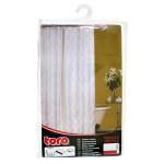 Sprchový záves + krúžky, 180x180cm, textil, TORO KÚPEĽŇA