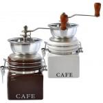 Mlynček na kávu, 8,5x8,5x17cm, porcelán/nerez, TORO VARENIE