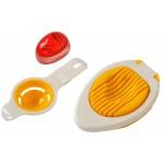 Set oddelovač žĺtka+minútka+krájač na vajíťka VARENIE