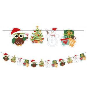Ozdoba vianočná GIRLANDA 2,3m SVIEČKY, DARČEKY,