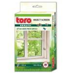 Sieťka na okná proti hmyzu ČIERNA, 130x150cm, TORO HOBBY, ZÁHRADA