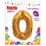 """Balón ČÍSLO """"0"""", 30cm, fólia, rôzne farby  SVIEČKY, DARČEKY"""