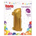 """Balón ČÍSLO """"1"""", 30cm, fólia, rôzne farby  SVIEČKY, DARČEKY"""