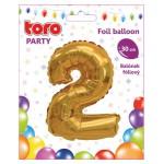 """Balón ČÍSLO """"2"""", 30cm, fólia, rôzne farby  SVIEČKY, DARČEKY"""