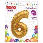 """Balón ČÍSLO """"6"""", 30cm, fólia, rôzne farby  SVIEČKY, DARČEKY"""