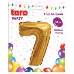 """Balón ČÍSLO """"7"""", 30cm, fólia, rôzne farby  SVIEČKY, DARČEKY"""