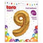 """Balón ČÍSLO """"9"""", 30cm, fólia, rôzne farby  SVIEČKY, DARČEKY"""