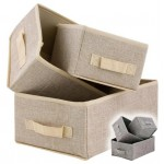 Box úložný set 3ks, textília SKLADOVANIE V DOMÁCNOSTI