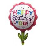 """Balón """"HAPPY BIRTHDAY"""" tvar kvetinka, 55x75cm, fólia, rôzne farby  SVIEČKY, DARČEKY, PÁRTY"""