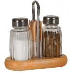 Soľnička + korenička + špáradlá drevo/nerez/sklo VARENIE