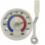 Teplomer vonkajší od -50 do +50°C, 12x7x1,5cm plast  TEPLOMERY INTERIÉR A EXTERIÉR