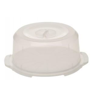 Box na tortu okrúhly pr. 37x15cm plast PEČENIE
