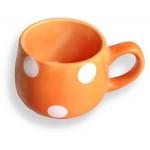 šálka BODKA 250ml oranžová/biele bodky hrnčeky