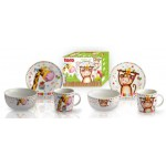 Set detský plytký tanier, miska 460ml, hrnček 250ml, keramika, TORO STOLOVANIE