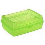 Box desiatový 1L ZELENÝ, 17x13x6,5cm, BPAfree plast SKLADOVANIE POTRAVÍN A DÓZY