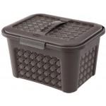 Box univerzálny 5,6L HNEDÝ ARIANNA, 27,6x21,8x17,2cm, plast, TONATRELLI SKLADOVANIE V DOMÁCNOSTI