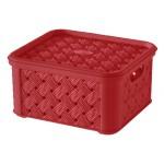Box SMALL ARIANNA, ČERVENÝ, 1,4L, 14,5x16,6x8,5cm, plast, TONTARELLI