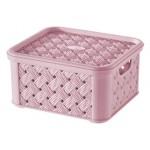 Box SMALL ARIANNA, LILA, 1,4L, 14,5x16,6x8,5cm, plast, TONTARELLI