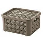 Box SMALL ARIANNA, HNEDÝ, 1,4L, 14,5x16,6x8,5cm, plast, TONTARELLI