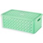 Box SMALL ARIANNA, ZELENÝ, 4L, 16,6x29x11,2cm, plast, TONTARELLI