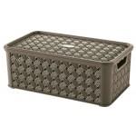 Box SMALL ARIANNA, HNEDÝ, 4L, 16,6x29x11,2cm, plast, TONTARELLI
