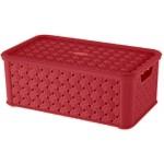 Box SMALL ARIANNA, ČERVENÝ, 4L, 16,6x29x11,2cm, plast, TONTARELLI