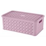 Box SMALL ARIANNA, LILA, 4L, 16,6x29x11,2cm, plast, TONTARELLI