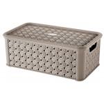 Box SMALL ARIANNA, CAPPUCCINO, 4L, 16,6x29x11,2cm, plast, TONTARELLI