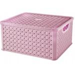 Box LARGE  ARIANNA, LILA, 13L, 29x33,2x16,5cm, plast, TONTARELLI