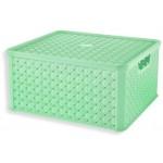 Box LARGE  ARIANNA, ZELENKAVÝ, 13L, 29x33,2x16,5cm, plast, TONTARELLI