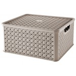 Box LARGE  ARIANNA, CAPPUCCINO, 13L, 29x33,2x16,5cm, plast, TONTARELLI