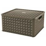 Box LARGE  ARIANNA, HNEDÝ, 13L, 29x33,2x16,5cm, plast, TONTARELLI