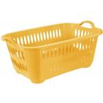 Kôš na čisté prádlo 41L, ŽLTÝ, 62,5x44x27,5cm plast, TONTARELLI UPRATOVANIE, ČISTENIE