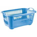 Kôš na čisté prádlo 33,5L MODRÝ 58,5x38x27cm plast UPRATOVANIE, ČISTENIE