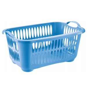 Kôš na čisté prádlo 41L, MODRÝ, 62,5x44x27,5cm plast, TONTARELLI UPRATOVANIE, ČISTENIE