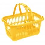 Košík nákupný 19,4L ŽLITÝ, 46x32x22cm, plast, TONTARELLI