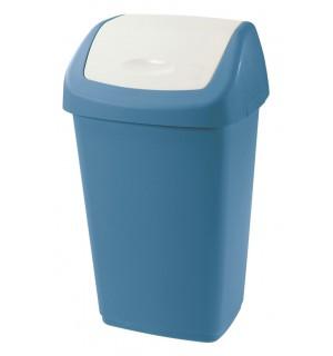 Kôš na odpad 25L MODROBIELY AURORA, 31x25x51,5cm plast, TONTARELLI SMETNÉ KOŠE, KOŠE NA ODPAD