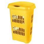 Kôš na špinavé prádlo 50L ŽLTÝ, 46x34x64cm, plast, TONTARELLI UPRATOVANIE, ČISTENIE