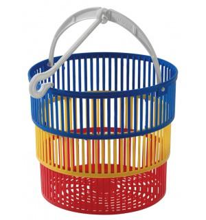 Košík na štipce pr. 18,5x16cm, plast, TONTARELLI ŽEHLENIE, SUŠENIE,