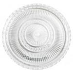 Podnos okrúhly priehladny pr. 28x1cm brúsený plast STOLOVANIE